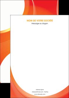 maquette en ligne a personnaliser affiche web design orange fond orange colore MIF75642