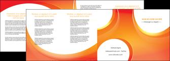 modele depliant 4 volets  8 pages  web design orange fond orange colore MIF75644