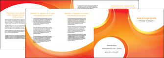 modele depliant 4 volets  8 pages  web design orange fond orange colore MLIGBE75644