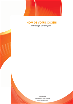 exemple flyers web design orange fond orange colore MIF75646