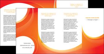 creation graphique en ligne depliant 4 volets  8 pages  web design orange fond orange colore MIF75648
