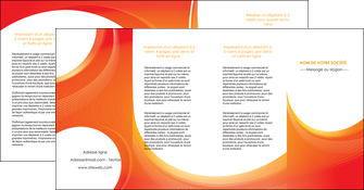 creation graphique en ligne depliant 4 volets  8 pages  web design orange fond orange colore MLIGBE75648