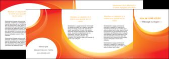 modele en ligne depliant 4 volets  8 pages  web design orange fond orange colore MIF75650