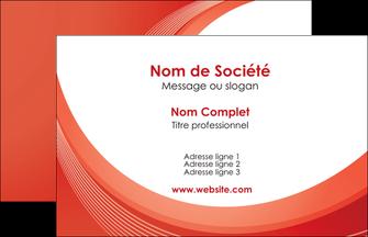faire carte de visite web design rouge couleur colore MIF75652