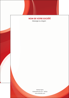 personnaliser maquette affiche web design rouge couleur colore MIF75658
