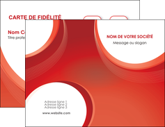 faire modele a imprimer carte de visite web design rouge couleur colore MIF75662