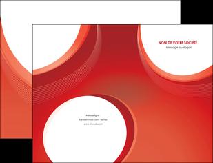 personnaliser maquette pochette a rabat web design rouge couleur colore MIF75664