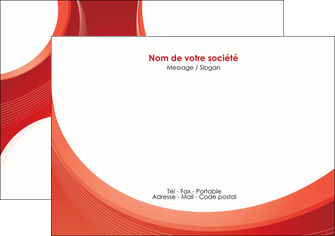 personnaliser modele de flyers web design rouge couleur colore MIF75676