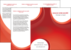 exemple depliant 3 volets  6 pages  web design rouge couleur colore MIF75678