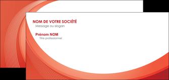 maquette en ligne a personnaliser carte de correspondance web design rouge couleur colore MIF75690