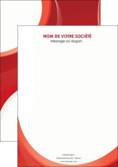 impression flyers web design rouge couleur colore MIF75698