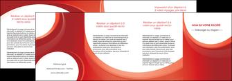 impression depliant 4 volets  8 pages  web design rouge couleur colore MIF75702
