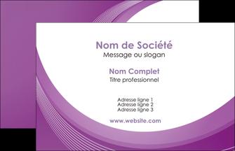 personnaliser modele de carte de visite web design violet fond violet courbes MLIG75704