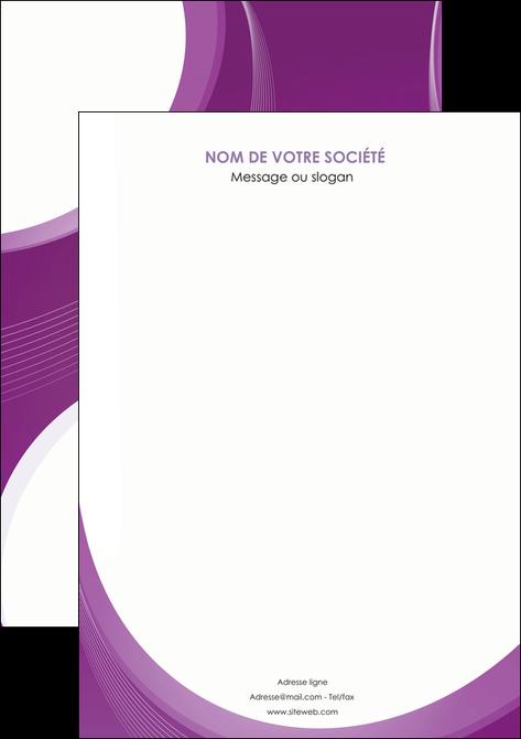 impression affiche web design violet fond violet courbes MLIG75712