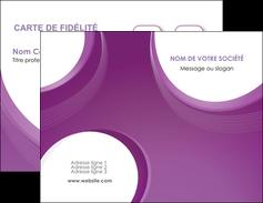 faire carte de visite web design violet fond violet courbes MLIG75714