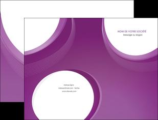 creation graphique en ligne pochette a rabat web design violet fond violet courbes MLIG75716