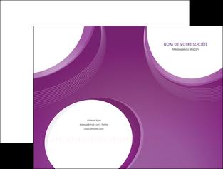 modele en ligne pochette a rabat web design violet fond violet courbes MLIG75718