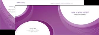 modele depliant 2 volets  4 pages  web design violet fond violet courbes MLIG75720