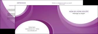 exemple depliant 2 volets  4 pages  web design violet fond violet courbes MLIG75722