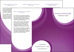 creation graphique en ligne depliant 3 volets  6 pages  web design violet fond violet courbes MLIG75730