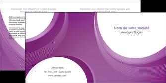 creer modele en ligne depliant 2 volets  4 pages  web design violet fond violet courbes MLIG75734
