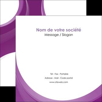 faire modele a imprimer flyers web design violet fond violet courbes MLIG75736