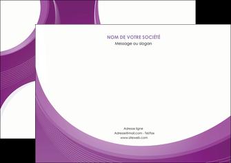 imprimerie flyers web design violet fond violet courbes MLIG75738