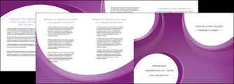 modele en ligne depliant 4 volets  8 pages  web design violet fond violet courbes MLIG75748