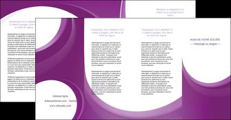 impression depliant 4 volets  8 pages  web design violet fond violet courbes MLIG75752