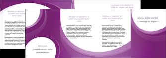 cree depliant 4 volets  8 pages  web design violet fond violet courbes MLIG75754