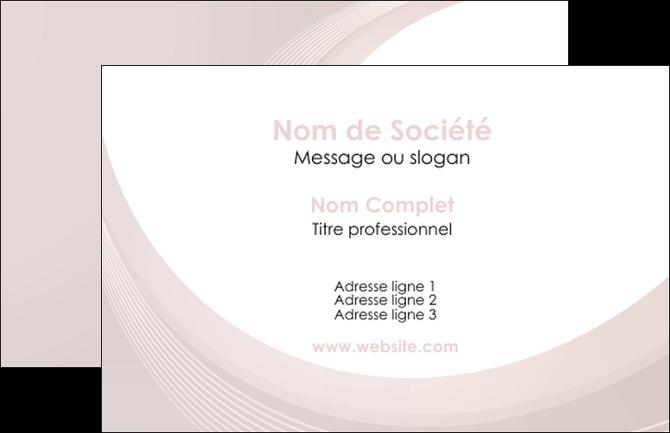 Modele En Ligne Carte De Visite Web Design Mauve Fond Courbes MLGI75756