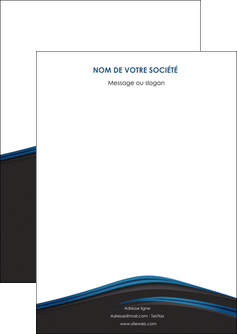 personnaliser modele de flyers web design fond noir bleu abstrait MLGI75978