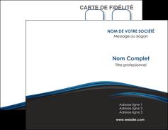 imprimerie carte de visite web design fond noir bleu abstrait MLGI75984