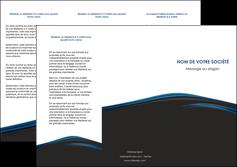 modele depliant 3 volets  6 pages  web design fond noir bleu abstrait MLGI76000
