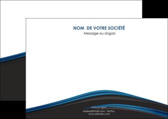 personnaliser maquette flyers web design fond noir bleu abstrait MLGI76002