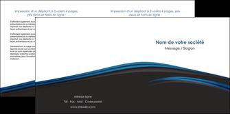 faire modele a imprimer depliant 2 volets  4 pages  web design fond noir bleu abstrait MLGI76004