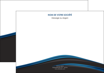 impression flyers web design fond noir bleu abstrait MIF76008