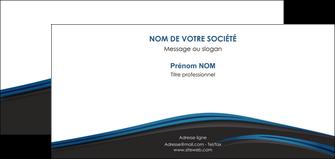 impression carte de correspondance web design fond noir bleu abstrait MLGI76012