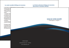exemple depliant 2 volets  4 pages  web design fond noir bleu abstrait MIF76014