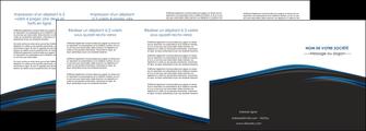 realiser depliant 4 volets  8 pages  web design fond noir bleu abstrait MLGI76018