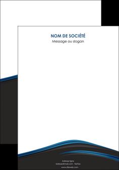 personnaliser modele de flyers web design fond noir bleu abstrait MLGI76020