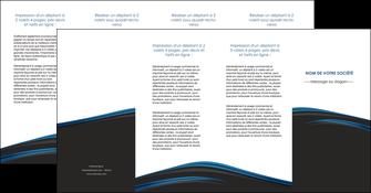 faire modele a imprimer depliant 4 volets  8 pages  web design fond noir bleu abstrait MLGI76022