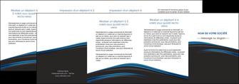 cree depliant 4 volets  8 pages  web design fond noir bleu abstrait MLGI76024