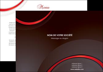 imprimerie set de table web design rouge gris contexture MLGI76692