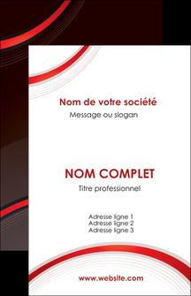 personnaliser modele de carte de visite web design rouge gris contexture MLGI76702