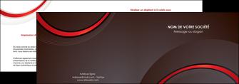 creation graphique en ligne depliant 2 volets  4 pages  web design rouge gris contexture MLGI76708