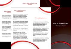 imprimerie depliant 3 volets  6 pages  web design rouge gris contexture MLGI76718