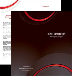 modele depliant 2 volets  4 pages  web design rouge gris contexture MLGI76720