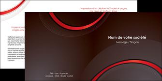 impression depliant 2 volets  4 pages  web design rouge gris contexture MLGI76722