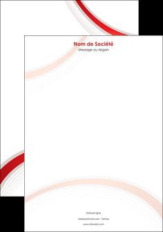 personnaliser maquette tete de lettre web design rouge gris contexture MLGI76724